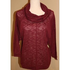 Old Navy Maroon Cowl neck sweater/blouse small